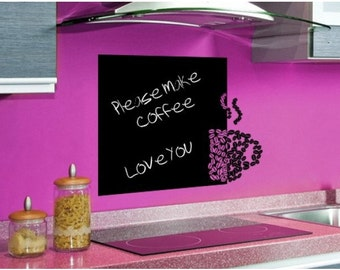 Coffee Beans dry eraser chalk board wall decal, sticker, mural, vinyl wall art