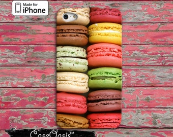 Macaron Cookie Rainbow Colorn French Macaroon iPhone 4 Case and iPhone 5/5s and 5c Case and iPhone 6, 6 Plus, 6s, 6s Plus + and Wallet Case