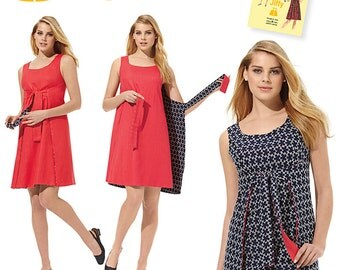 Simplicity Pattern 1356 Misses' Jiffy Reversible Wrap Dress