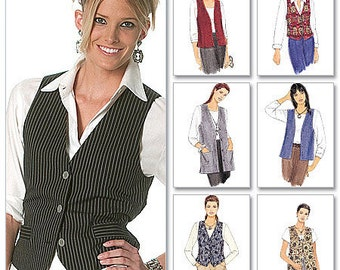 McCall's Pattern 2260 Misses' Unlined Vests In Two Lengths