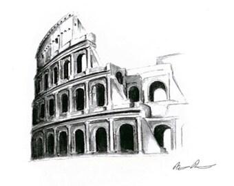 Coliseum : Original  Framed