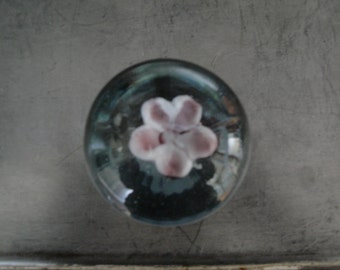 Glass flower paper weight