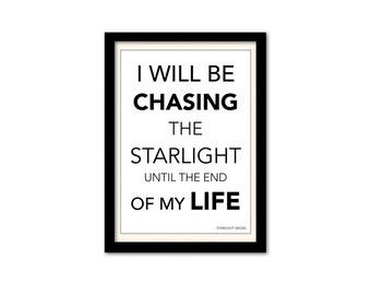 Muse - Starlight Song Lyric Poster. A3 Wall Art Typography Print. Black & White