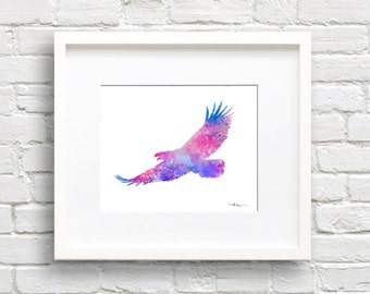 Eagle Watercolor Art Print - Abstract Painting - Wall Decor
