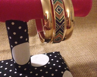 Gold and Aztec bangles