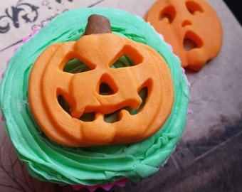 pumpkin mold - jack o lantern mold - halloween mold - fondant mold - gumpaste mold- -chocolate mold - candy mold - resin mold
