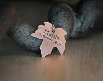 Maple Leaf - Pet Tags - Pet ID Tag - Dog Tag - Dog ID Tag - Custom Dog Tag - Personalized Dog Tag - Cat Tag - custom pet tag - Fun Pet Tag