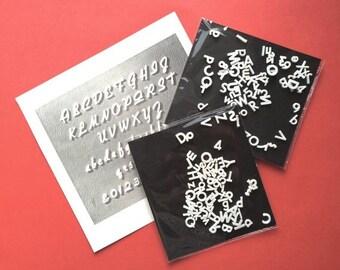 Vintage little plastic alphabet letters! Cine / signwriting / typography / A-Z / Scrapbooking / Decoupage / Mail Art