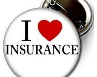 "I Love Insurance Pinback Button 2.25"" Progressive Flo Halloween Costume (Magnet Keychain Bottle Opener)"