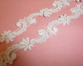 Embroidered Floral White Lace Trim Beautiful