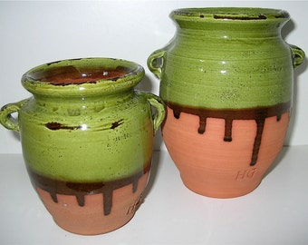 Confit Jars Hand Thrown Glazed Terra Cotta