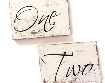 Table Numbers, wedding table numbers, reserved seating signs
