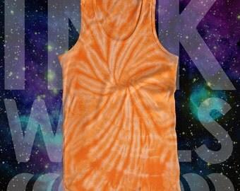 Tie Dye Orange Spider Tank Top