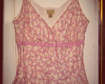 Vintage cute silk pink  top