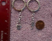 Heart and lock couples key chain key ring set lovers friends made in USA