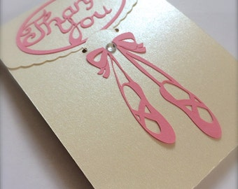 Dance Instructor Thank You Gift Card Holder (Ballet Shoes)