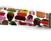 Sweet mini morsels fabric key fob, fabric key holder, key fob, fabric key fob, bracelet key ring, gift for her