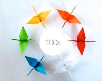 100 x origami crane crane