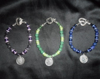 Archangel Collection - Semi Precious Stones Corelating to Archangels with Archangel Charm - AA05