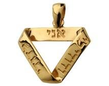 14k Gold Ani LeDodi Mobius Pendant