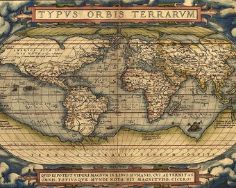 Old World Map Th Century Download Scan Of An Old Original - 17th century world map