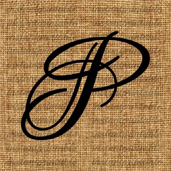 Monogram Initial Letter P Letter Clip Art Letter Decal