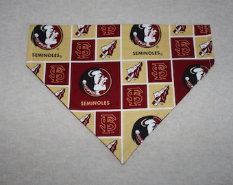 Florida State Seminoles Dog Bandanna in Small, Medium, or Large