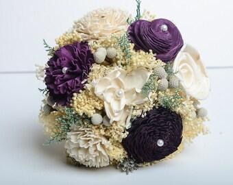 Purple, Pantone Bridesmaids Bouquet, Sola Flower Bouquet, Keepsake Bouquet, Vintage Bouquet.