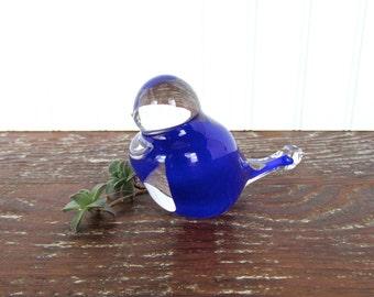 Vintage Blown Glass Bluebird Figurine
