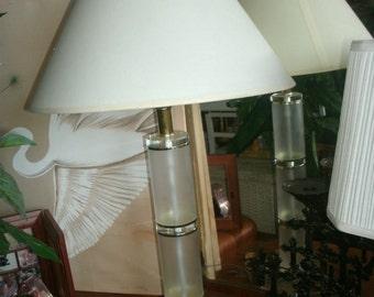 Lucite tube lamp