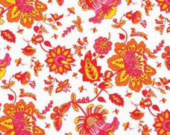 Premium quilting cotton fabric by the yard, 100% cotton pink floral fabric by Paula Prass for Michael Miller. More fabric yardage available.