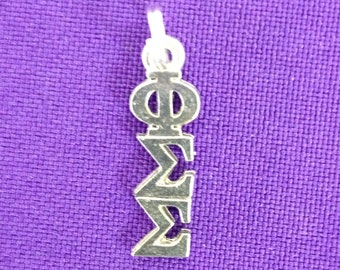 Phi Sigma Sigma Sorority Greek Lavaliere Charm, Officially Licensed