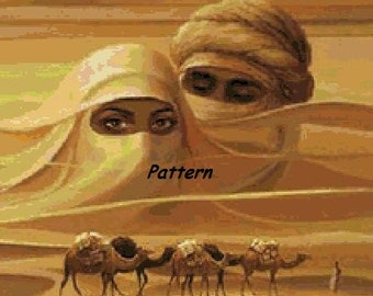 Desert People. Cross Stitch Pattern. PDF Files.