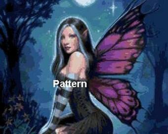 Fairy. Cross Stitch Pattern. PDF Files.