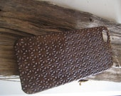 Leather iphone case boho style,back cover,handmade iphone 5 case cover/brown leather case i phone 5/5S,case cover under 20