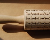 Personalized rolling pin and cookie cutter