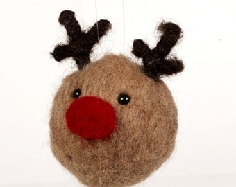 Reindeer Bauble Needle Felting Kit