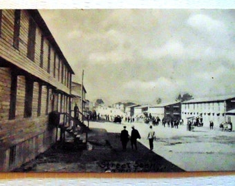 Must See WWI Postcard RPPC Street Scene Camp Lee, VA in Excellent Condition