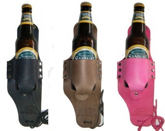 The ORIGINAL Beer Holster by Beer Outlaw - great for groomsmen gifts and Fathers Day