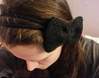 Knitted Bow Hair Band - Knit Bow - Knit Hair Band