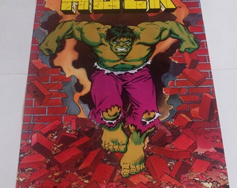 The INCREDIBLE HULK Poster From 1987 MARVEL Comics  Rare and Vintage!!