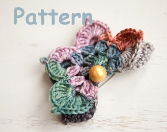 Crochet 3D butterfly brooch - promo price pattern!