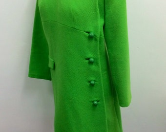 Adams Allentown label lime green mod  1960's cool coat