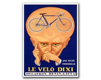 Retro Bike Poster Art Sports Decor Vintage Print (H237)