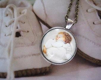 Sleeping Angel Necklace, infant loss, child loss, baby loss keepsakes, miscarriage, stillborn, child loss jewelry, handmade, gift
