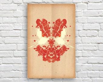 """Spiderman Rorschach Poster (Marvel) - 11"""" x 17"""""""