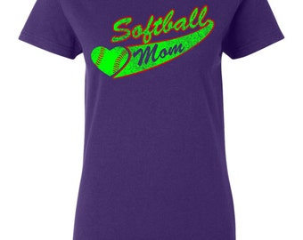 Items similar to softball mom shirt people wait their for Custom t shirts international shipping