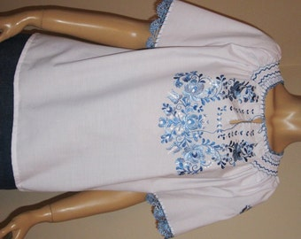 Hand embroidered Hungarian Matyo ,Kalocsa  blouse multicolored embroidery - size S-M / 8
