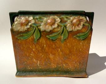 ROSEVILLE SALE!!  Roseville Dahlrose Pillow Vase Planter