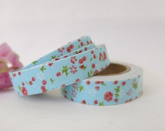 Floral Fabric Tape / Adhesive Decoration Fabric Tape  FT037